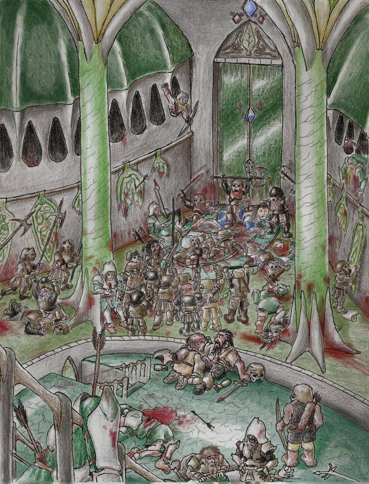 The Ruin of Doriath, from Tolkien's Silmarillion.