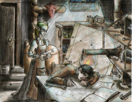 Image from my steampunk MG novel The Machinist