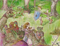 Link rescues Princess Zelda, from Oracle of Seasons.